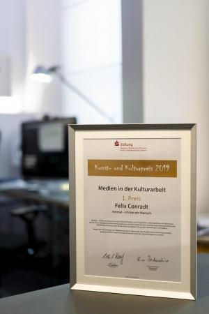 Urkunde Kulturpreis